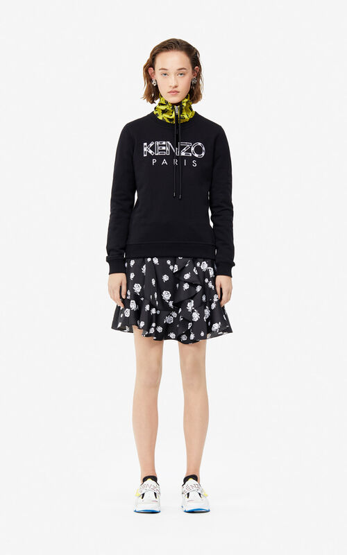 BLACK KENZO Paris 'Roses' sweatshirt for women