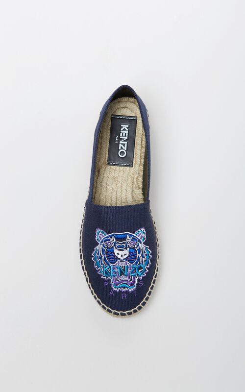 d3d59bfac54 ... NAVY BLUE Tiger Espadrilles for unisex KENZO