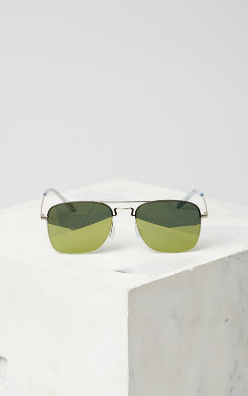 SILVER Flat Lens 'Kuba' Sunglasses for global.none KENZO