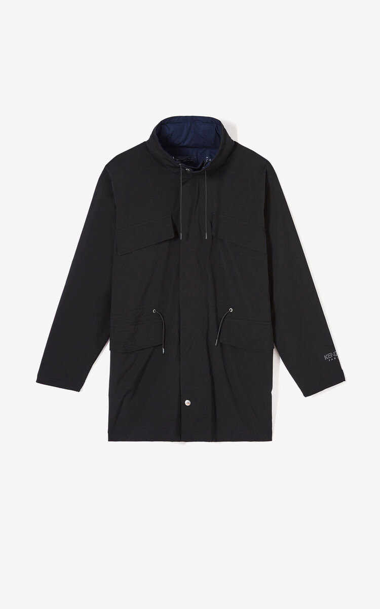 BLACK Reversible lightweight parka for women KENZO