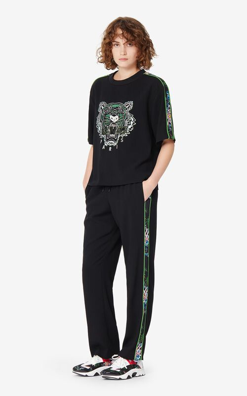LIME Sea Lily' crepe Tiger top for women KENZO
