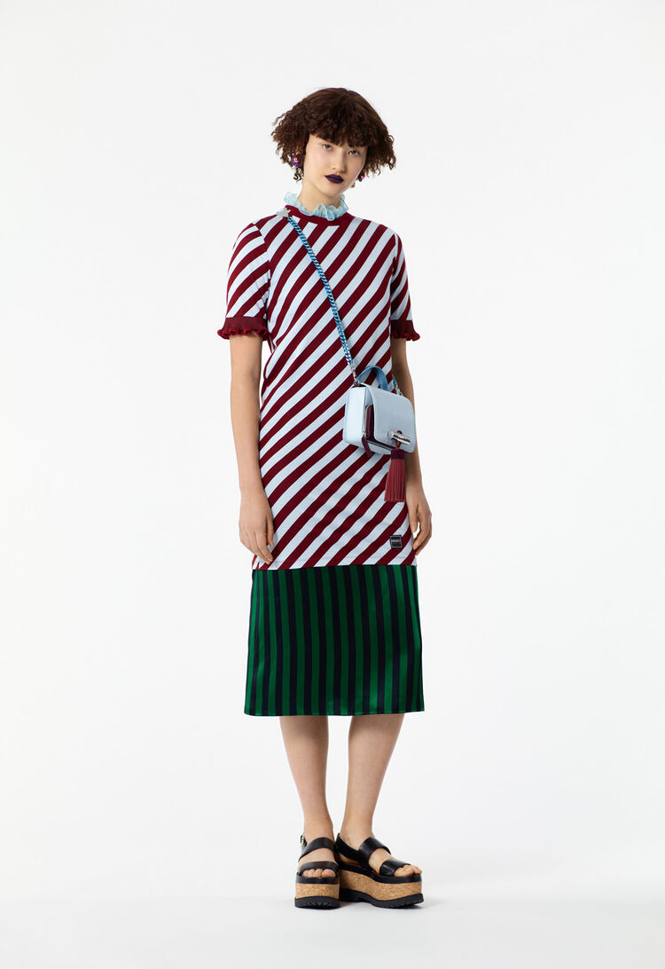 SKY BLUE Striped T-shirt dress for women KENZO
