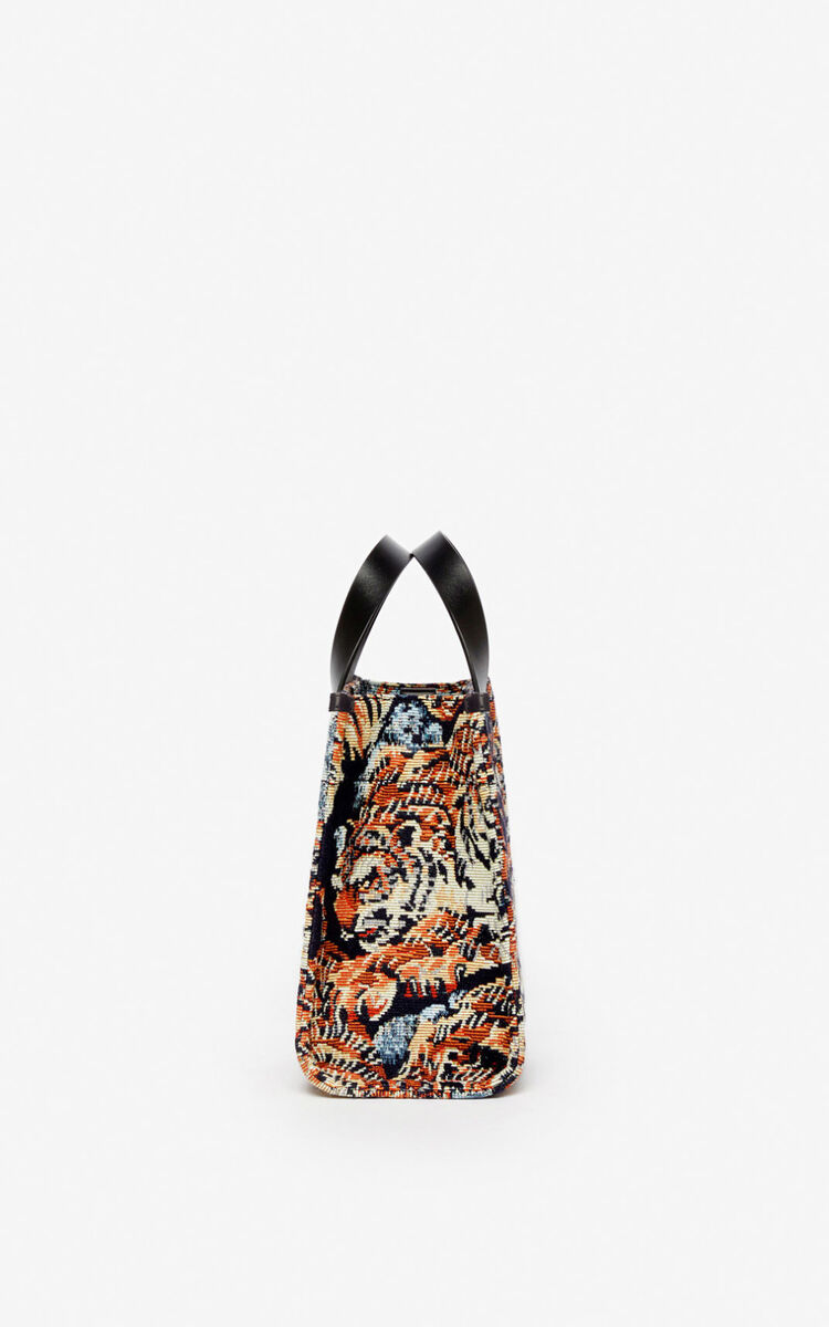 MULTICOLOR Jungle 'Flying Tiger' small tote bag   for women KENZO