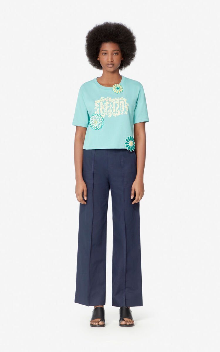 AQUA Boxy 'Mermaids & Flowers' T-shirt for women KENZO