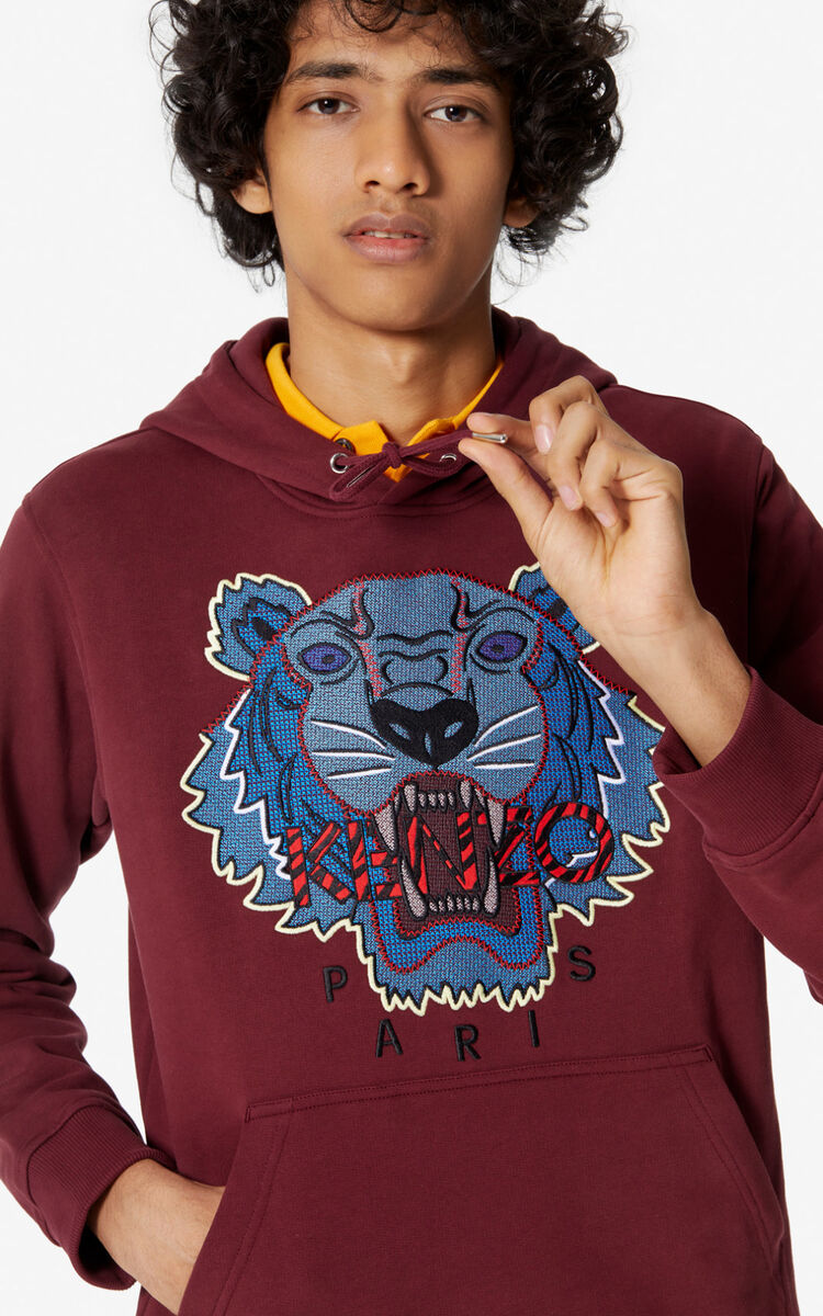 BORDEAUX 'Hiking Tiger' hoodie for men KENZO