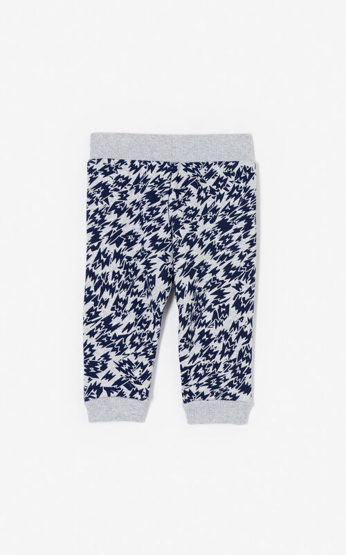 MIDDLE GREY 'Fantastic Jungle' joggers for men KENZO