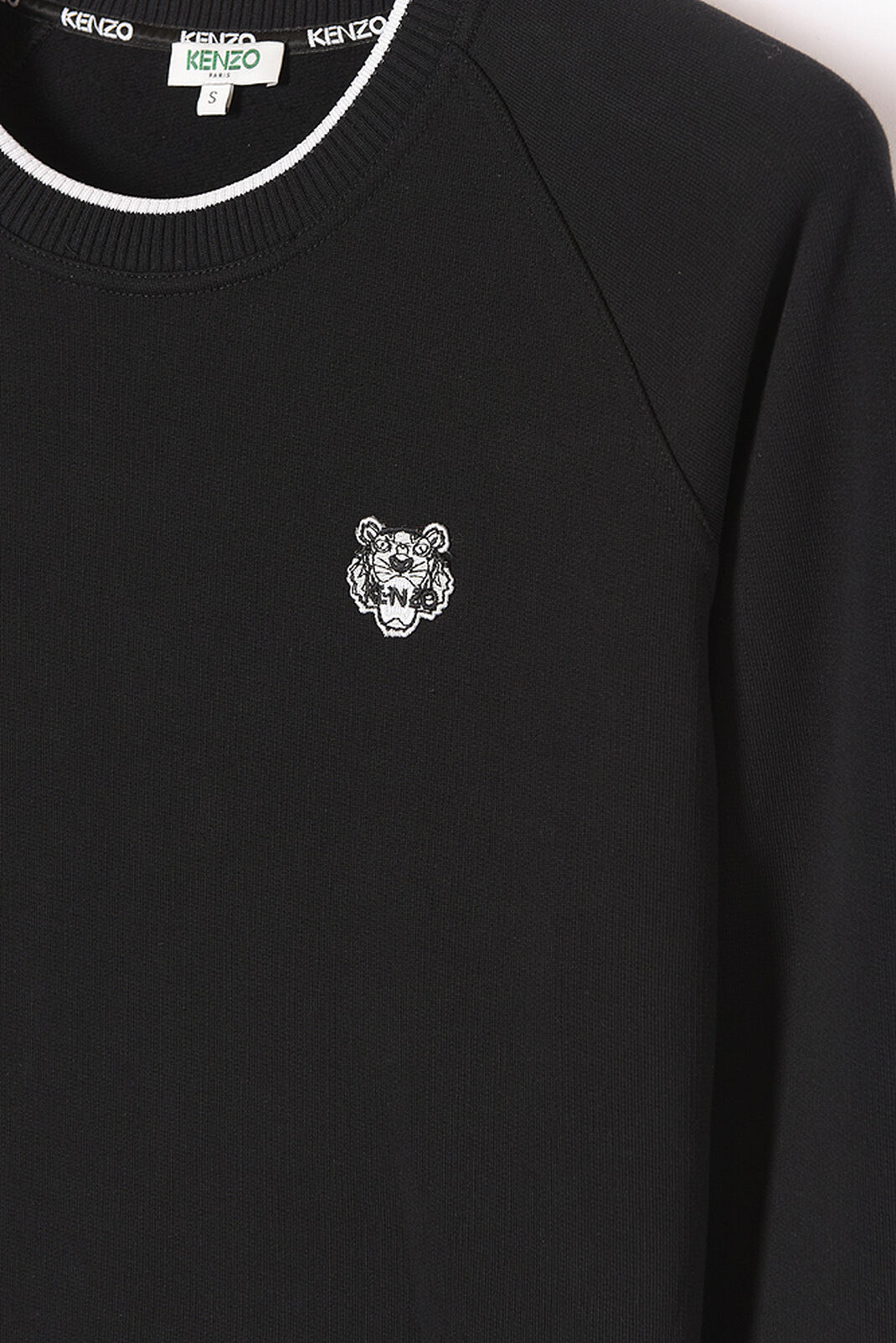 BLACK Tigre crest sweatshirt  for women KENZO