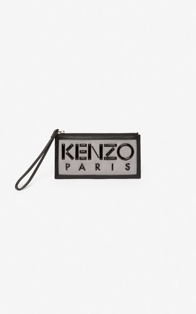 SILVER Kombo card holder for men KENZO