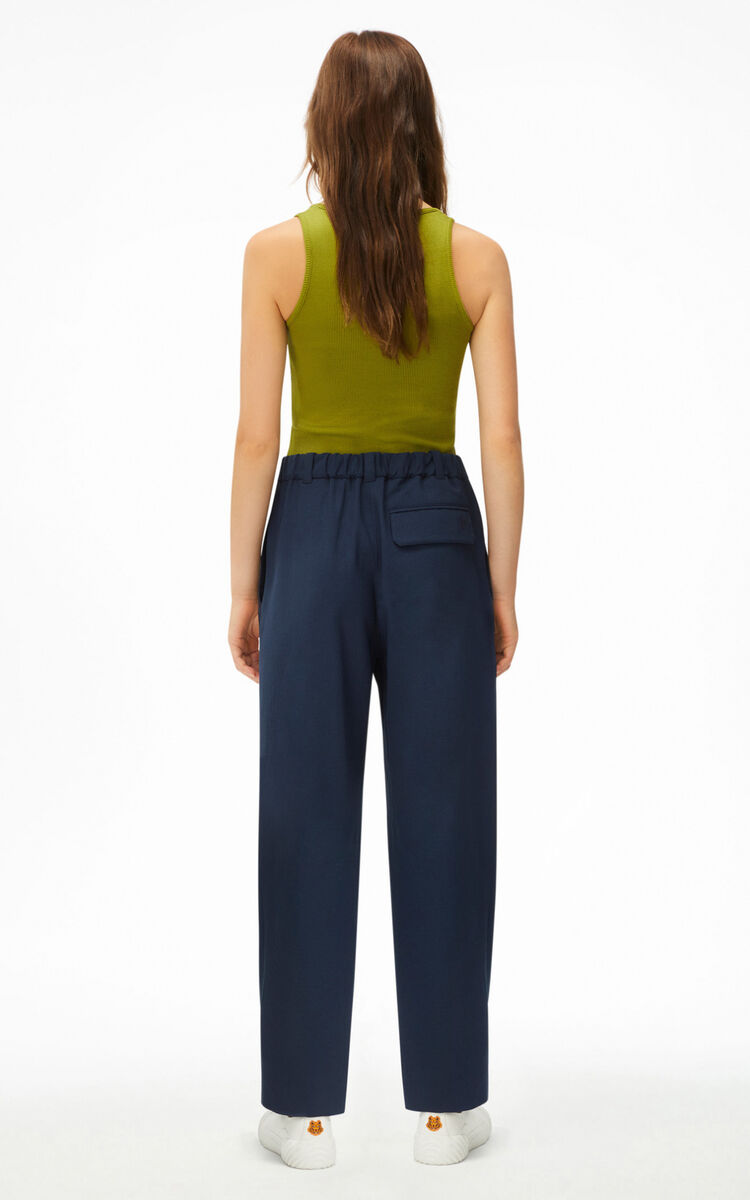 BLUE BLACK Fitted jogging trousers for women KENZO