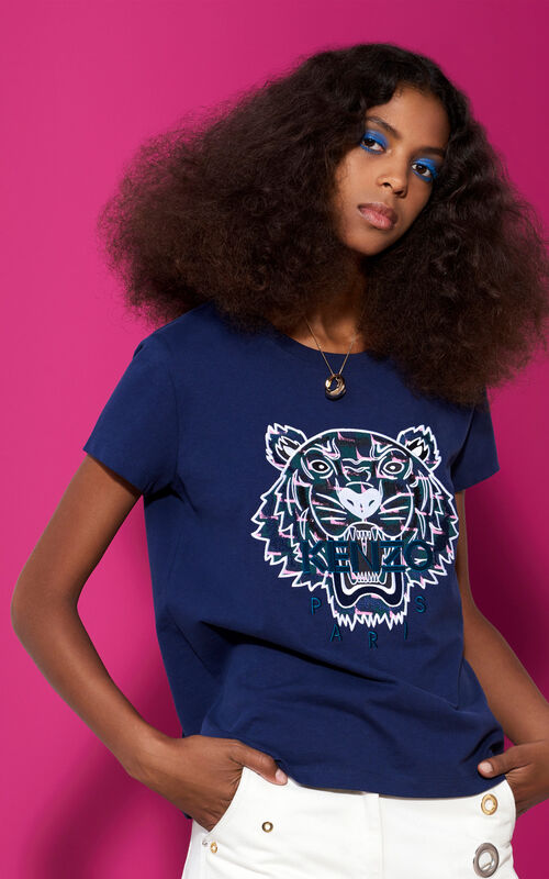 INK Embroidered Tiger T-shirt for women KENZO