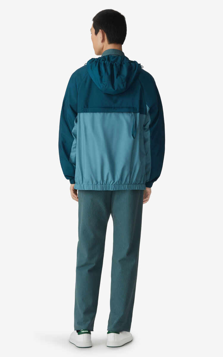DUCK BLUE Zipped windbreaker for men KENZO