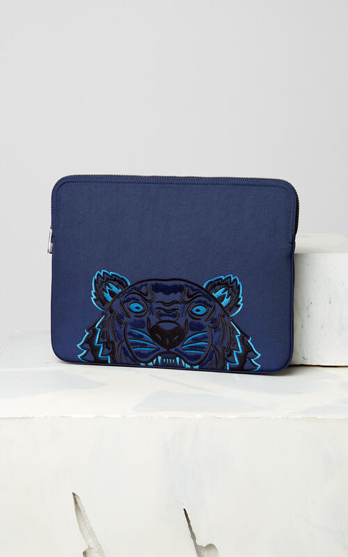 NAVY BLUE Tiger Laptop Sleeve for unisex KENZO