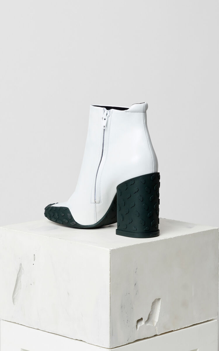 WHITE KENZO Move heeled ankle boots for women