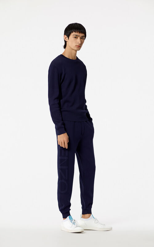 INK KENZO Logo ribbed trousers for men