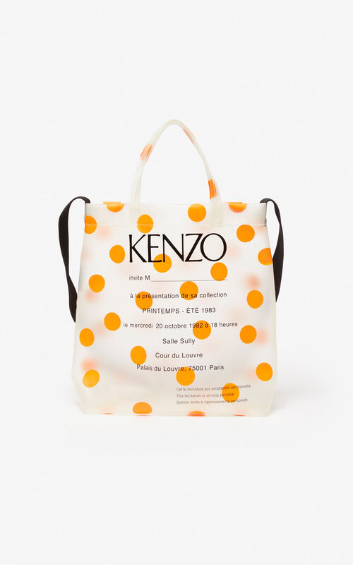 MEDIUM ORANGE Invitation tote bag for men KENZO