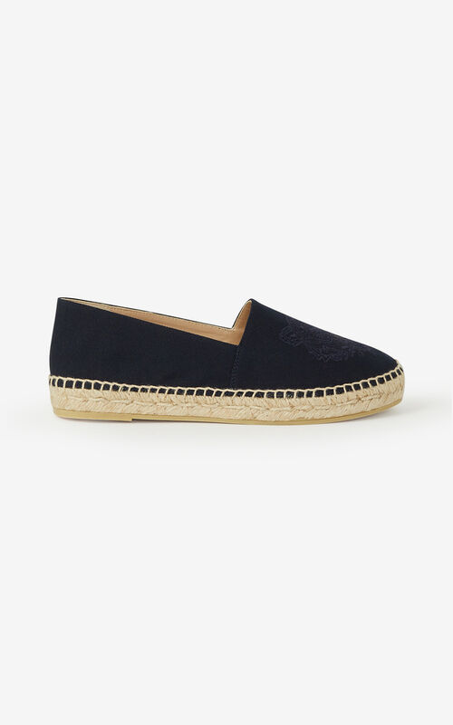 NAVY BLUE Canvas Tiger espadrilles for unisex KENZO