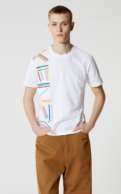 WHITE 'High Summer Capsule Collection' KENZO Logo t-shirt for men