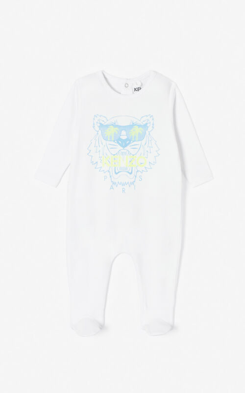 WHITE 'Cali Party' sleepsuit for women KENZO