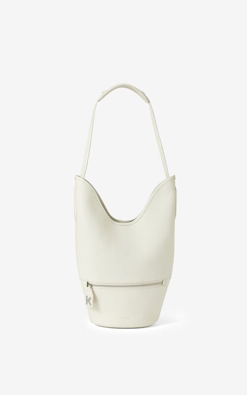ECRU KENZO Onda leather bucket bag for men