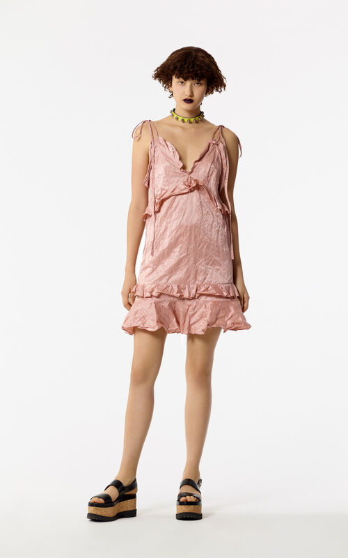 SKIN Mini ruffle dress for women KENZO