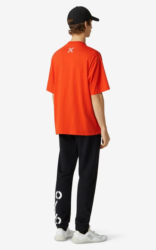 DEEP ORANGE KENZO Sport 'Big X' T-shirt for men