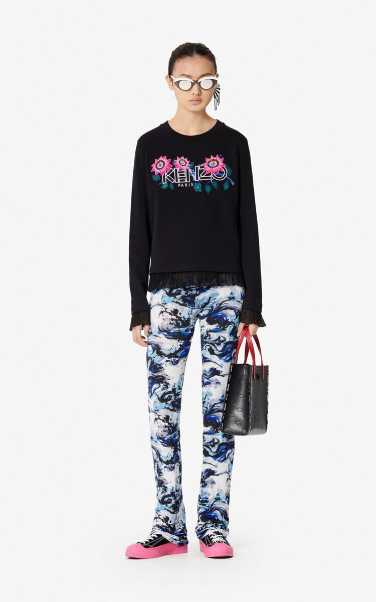 BLACK 'Passion Flower' KENZO Paris sweatshirt for women
