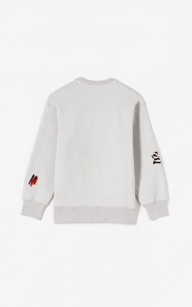 PALE GREY Sketch sweatshirt for women KENZO