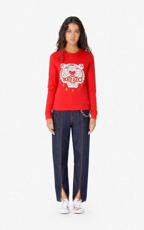 MEDIUM RED 'Chinese New Year Capsule' Tiger sweatshirt for women KENZO
