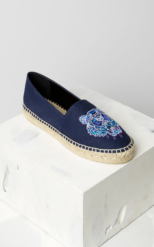 NAVY BLUE Tiger Espadrilles for women KENZO