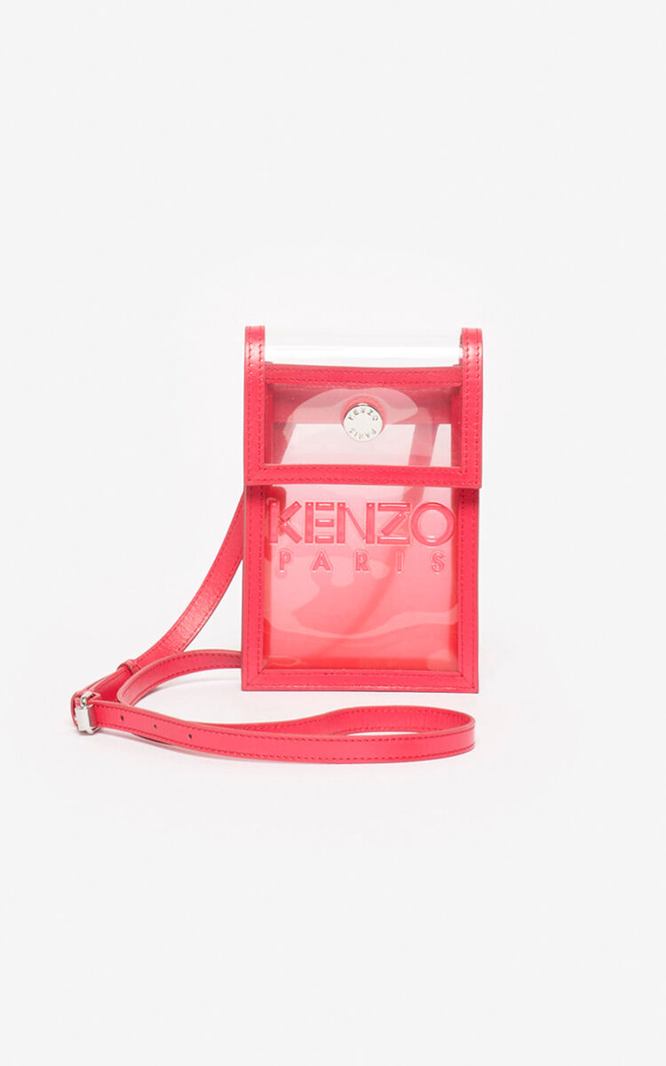 CORAL Kombo phone holder on strap for women KENZO