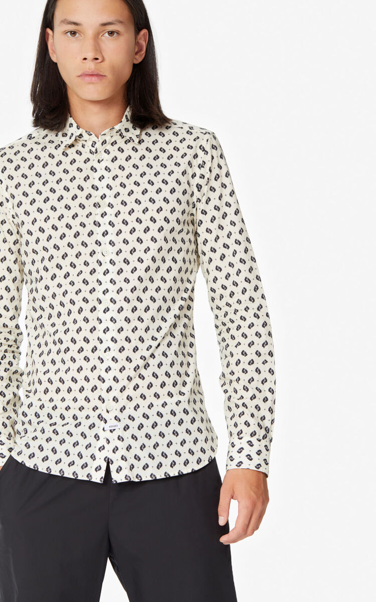 OFF WHITE Ikat' slim-fit shirt for men KENZO