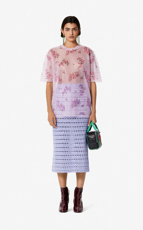 PASTEL PINK 'Cheongsam Flower' top for women KENZO