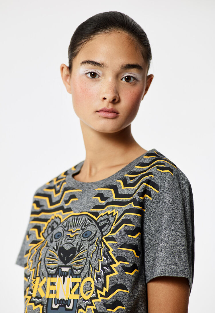 ANTHRACITE Geo Tiger t-shirt  for women KENZO