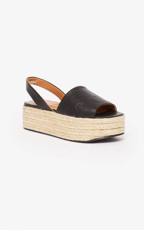 BLACK Blink platform espadrilles for women KENZO
