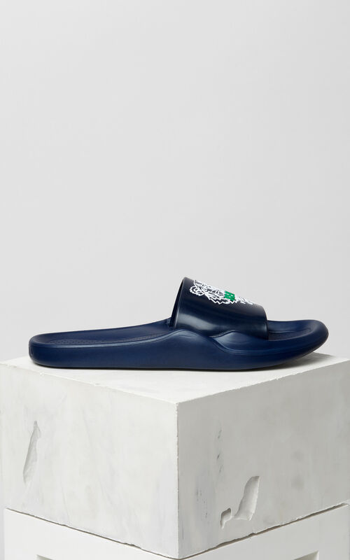 NAVY BLUE Tiger sandals for men KENZO