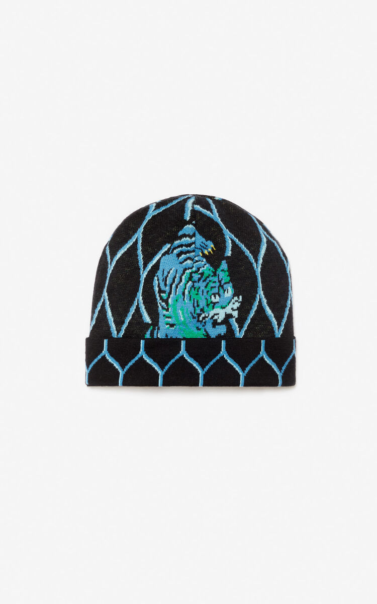 BLACK 'Crazy Jungle' beanie for men KENZO