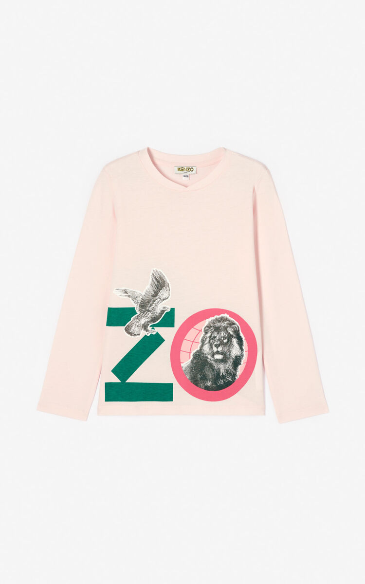 FADED PINK 'Crazy jungle' T-shirt for women KENZO
