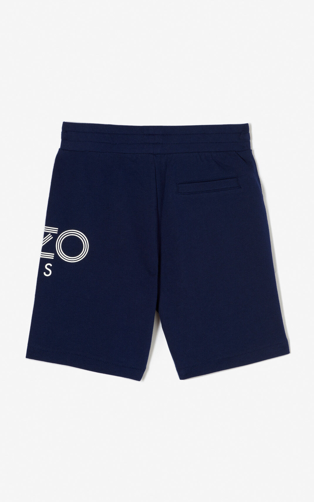 NAVY BLUE KENZO Logo bermuda shorts for men