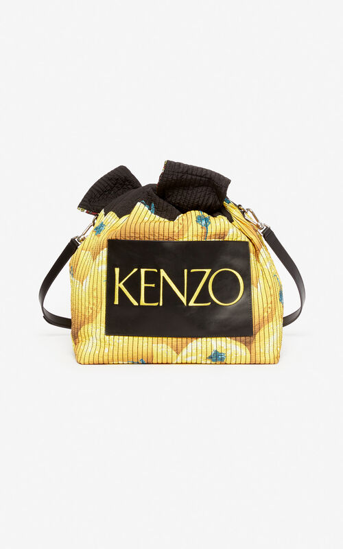 BLACK Reversible knot bag for unisex KENZO