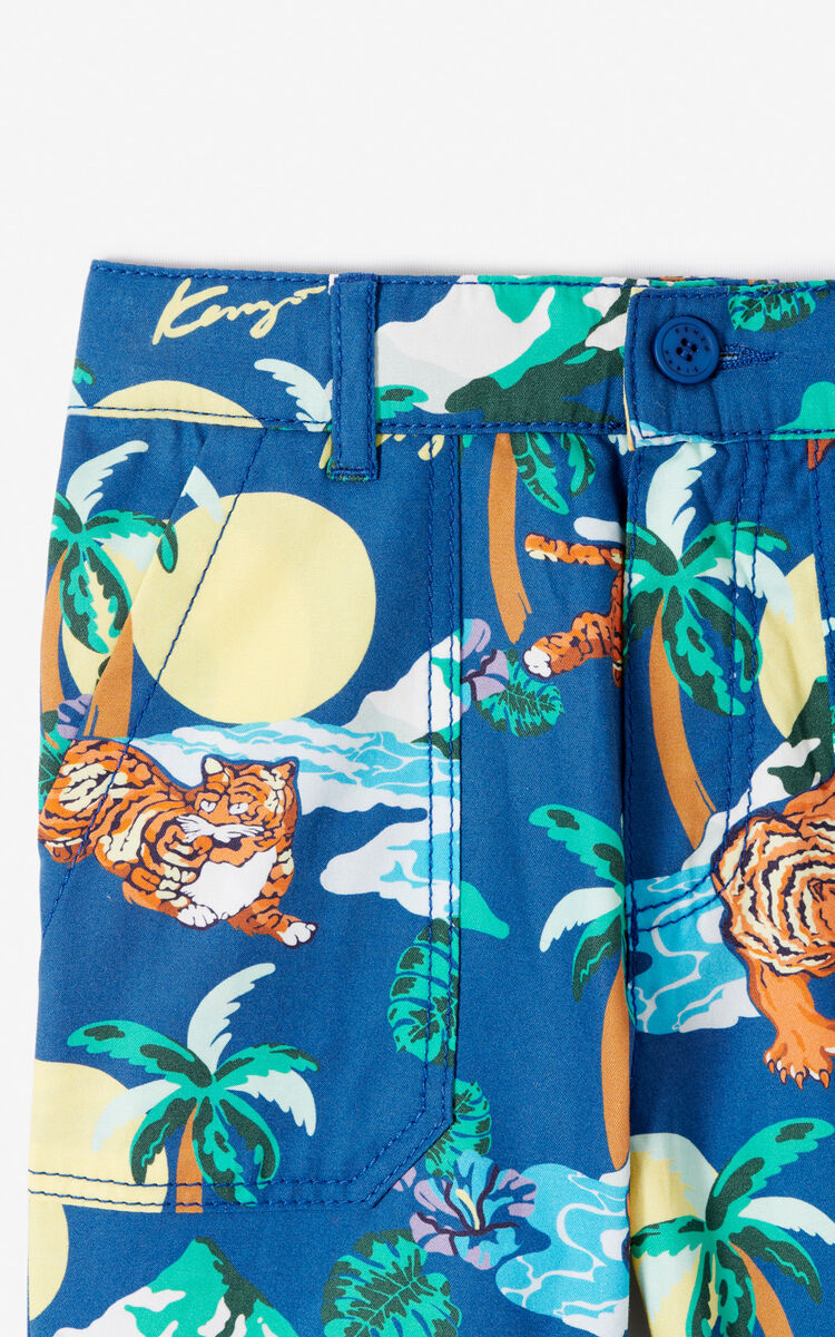ab98264522eb3 MIDNIGHT BLUE 'Hawai' Bermuda shorts for men KENZO