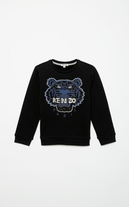 BLACK Beads Tiger Sweatshirt for women KENZO