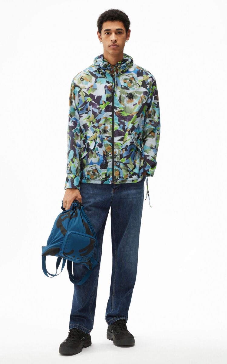 SAPPHIRE 'Archive Floral' jacket with hood for men KENZO