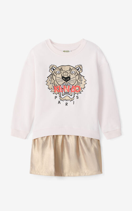FADED PINK Tiger dress and sweatshirt ensemble for women KENZO