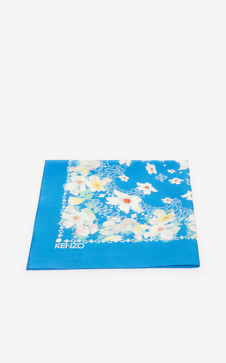 COBALT Floral bandana scarf for global.none KENZO