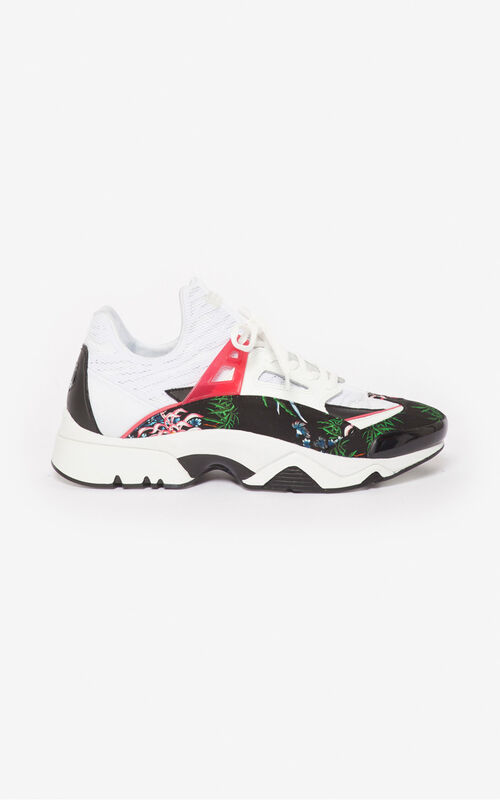 BLACK 'Sea Lily' Sonic sneakers for unisex KENZO