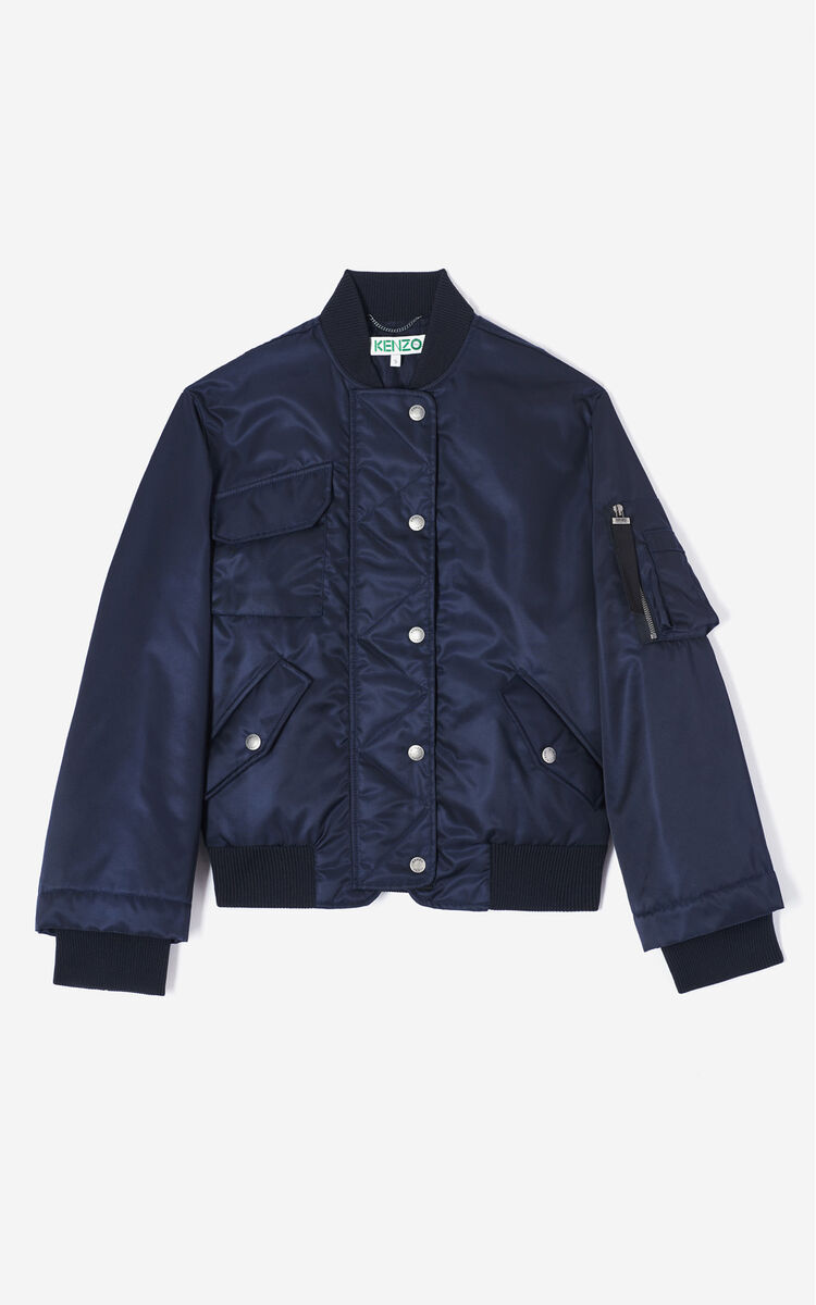 NAVY BLUE Designer bomber jacket for women KENZO