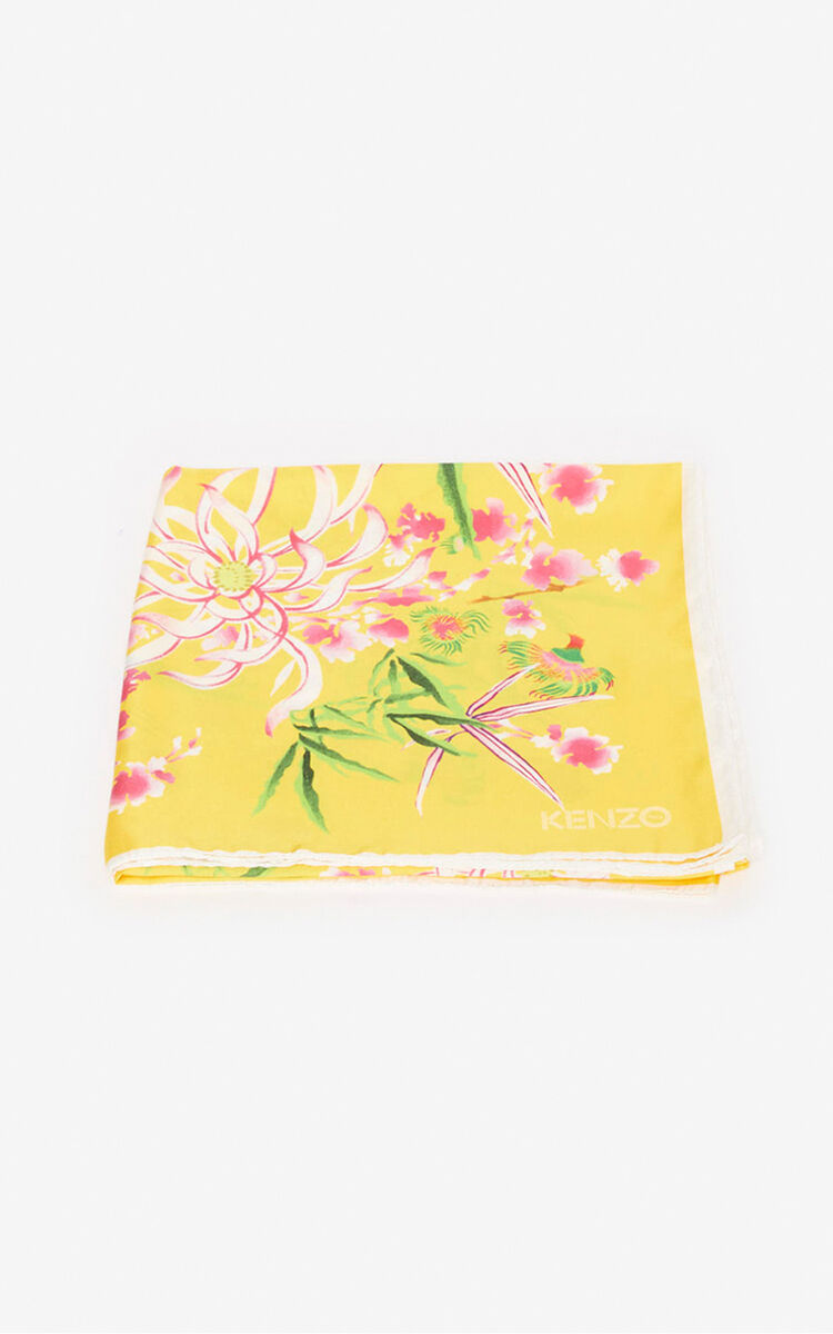 LEMON 'Sea Lily' silk square for unisex KENZO