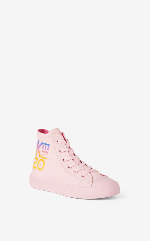 FLAMINGO PINK 'Ventura' high-top sneakers for women KENZO