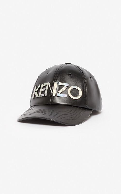 BLACK 'Holiday Capsule' KENZO Kontrast leather baseball cap for unisex