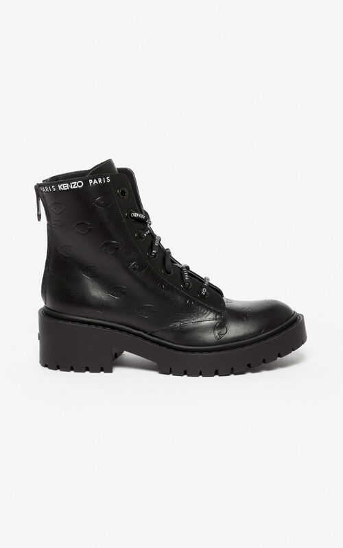 BLACK Pike Eye boots for unisex KENZO